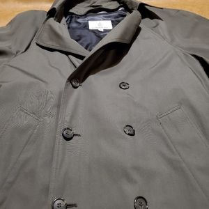 London Fog mens lined Trench style rsin coat